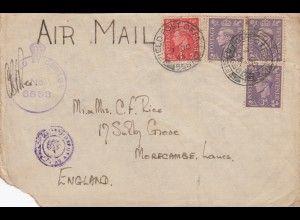1943: air mail Field post office Tripolis to England