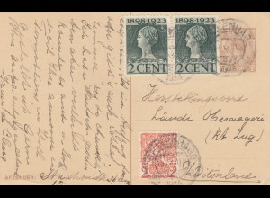 1922/23: 4x post card Netherlands/Utrecht to Schleiz