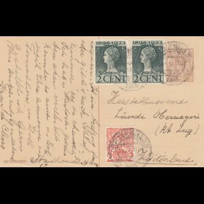 1922/23: 4x post card Netherlands/Utrecht to Schleiz