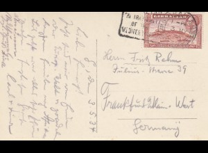 Gibraltar 1934: post card to Frankfurt