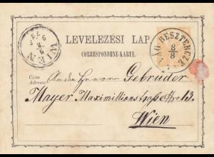 Romania: post card 1873 Beszterce to Wien