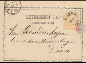 1873: post card Szerdahelly to Wien