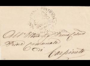 1868: letter Pontificia Roma, text content