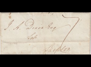 1833 letter York with Text