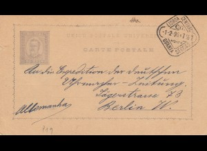 1896: post card Lisboa to Berlin
