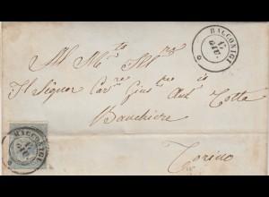 1864: Racconigi to Torino with text