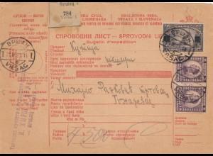 1923: parcel card 1923