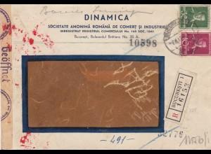 1944: registered Bucaresti to Oldenburg, censorship 2x
