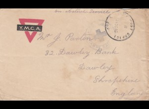1916: Egypt YMCA - Army post office to England