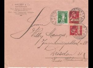 1916: Winterthur nach Dresden