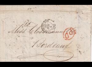 1858: letter London to Bordeaux