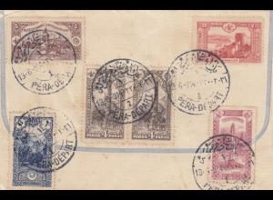 1914: letter Poste Ottomanes to Stuttgart