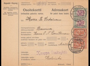 1927: parcel card Helsinki