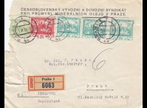 1919: Einschreiben Prag