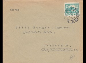 1919: Brief von Smichov nach Dresden
