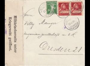 1917: Luterrach nach Dresden,unter Kriegsrecht München geöffnet