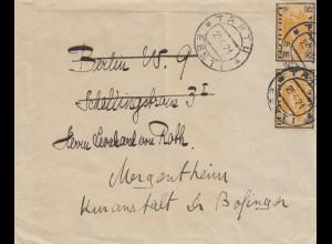 1921: letter from Tartu to Mergentheim