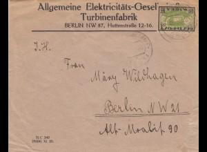 1923: letter from Turbinenfabrik to Berlin