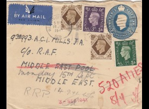 1941: Summerset via air mail to RAF, Middle East