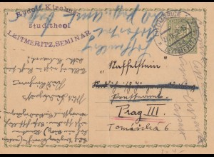 1932: 2x post card Leitmeritz/Unicov to Prag