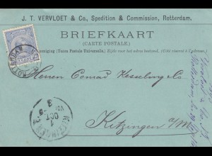 1893: post card Rotterdam to Kitzingen