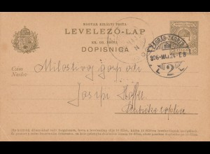 1906: post card Zagreb