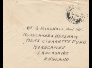 1943: Field post office 577 (north Africa) to Morecame, Lancashire