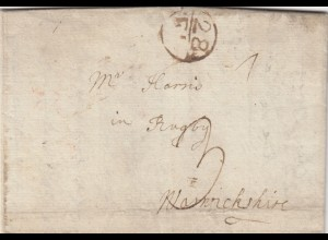 Cover from Calais to Warwickshire, with text