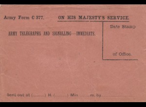 Cover: On his Majesty's Service, unused