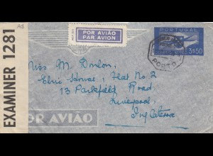 1940: air mail Porto to Liverpool