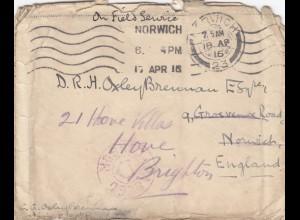 1916: 2x Norwich Field Service to Brighton