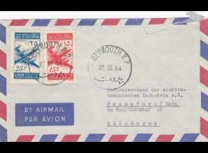 1954: air mail Beyrouth to Frankfurt