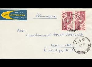 1958: air mail Lufthansa Beyrouth to Bonn