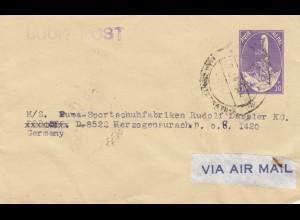 1983: Kathmandu book post to PUMA - sport shoes Germany
