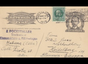 3x post card 1924/26/28 Habana to Heidelberg