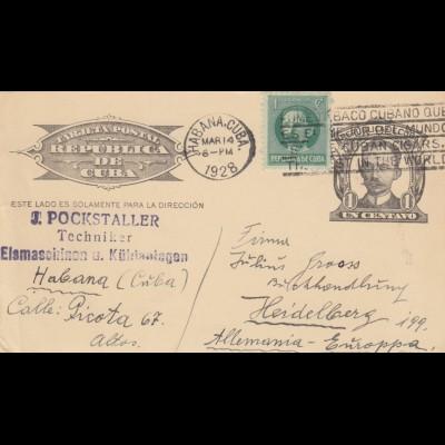 3x post card 1924/26/28 Habana to Heidelberg