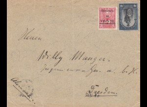 letter 1912 Buenos Aires to Dresden/Germany