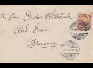letter 1901 Chihuahua to Bad Ems