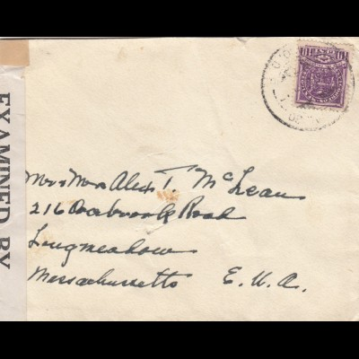 letter 194x to USA, censor
