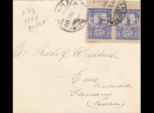 letter 1898 to Bad Ems/Germany