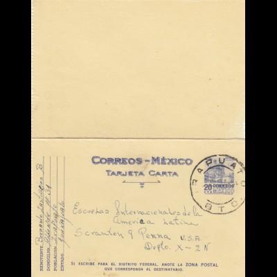 letter Irapuato to Scranton Penna/USA