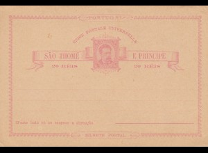 Sao Thome, post card, unused