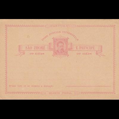 Sao Thome, post card, unused