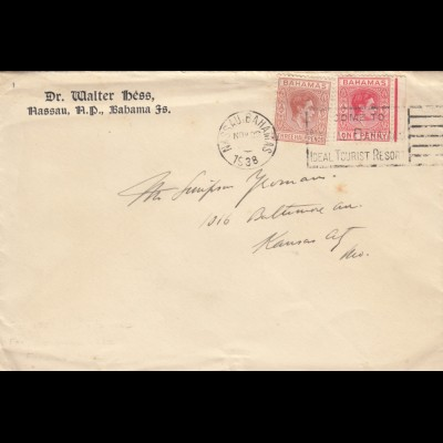 1938: letter Nassau to Kansas