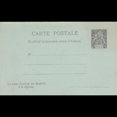 2x carte postale, 1x with answer card, Nossi-Bé