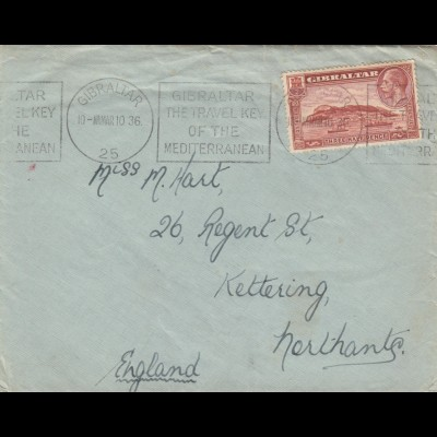 1936: Gibratlar to Kettering/England
