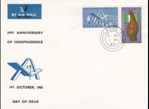 1962: FDC air Mail Lagos - unused
