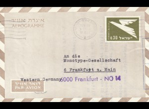 1967: Tel Aviv to Frankfurt, Air mail