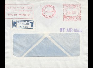 1968: registered air mail Tel Aviv