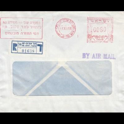1968: registered air mail Tel Aviv